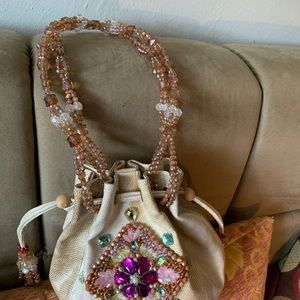 Mary Frances leather grain handbag